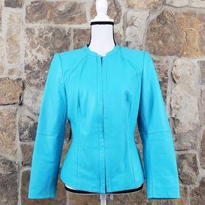 NEW Lafayette 148 8 Lambskin Leather Jacket Coat